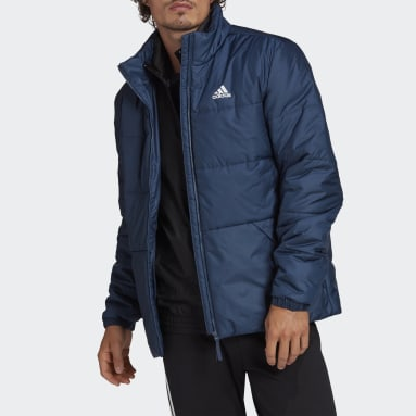 Men City Outdoor Blue BSC 3-Stripes Insulated Winter Jacket