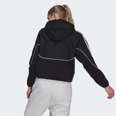 Women's Sportswear Black adidas Sportswear Colorblock Full-Zip Hoodie
