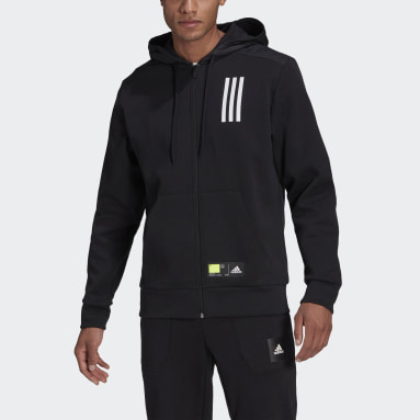Men Sportswear Black adidas Sportswear Overlay Full-Zip Track Top