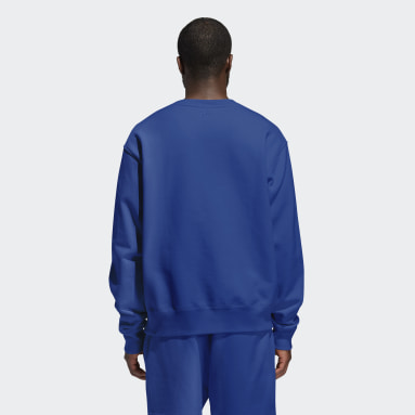 Originals Blå Pharrell Williams Basics Crew (kønsneutral) sweatshirt