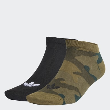 Originals Black Trefoil Liner Ankle Socks 2 Pairs