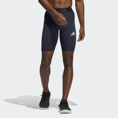 Men Gym & Training Blue Techfit Short Tights