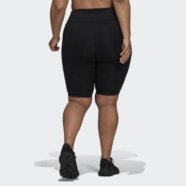 Women's Originals Black Adicolor Classics High-Waisted Primeblue Short Tights (Plus Size)