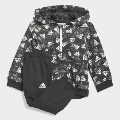 Kids Gym & Training Black Badge of Sport Allover Print Jogger Set