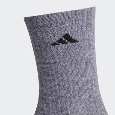 Men's Training Grey Cushioned Crew Socks 3 Pairs
