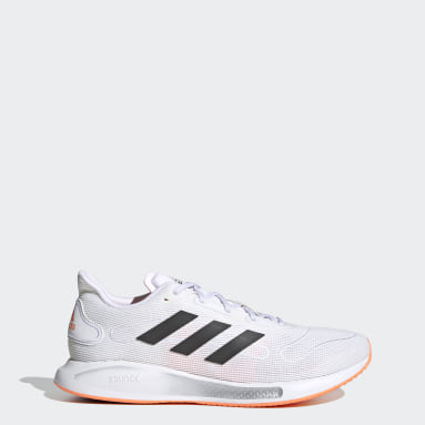 Men Running White Galaxar Run Shoes