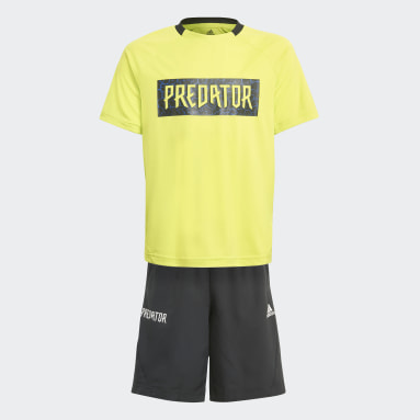 Youth 8-16 Years Gym & Training Yellow Predator Football-Inspired Summer Set