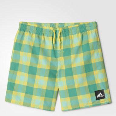 зеленый Пляжные шорты Checked Water