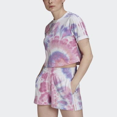 T-shirt Tie Dye Cropped Multicolor Donna Originals