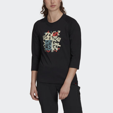Frauen Five Ten Five Ten Graphic 3/4 Sleeve T-Shirt Schwarz