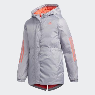 Girls Fitness Og Træning Grå Insulated jakke