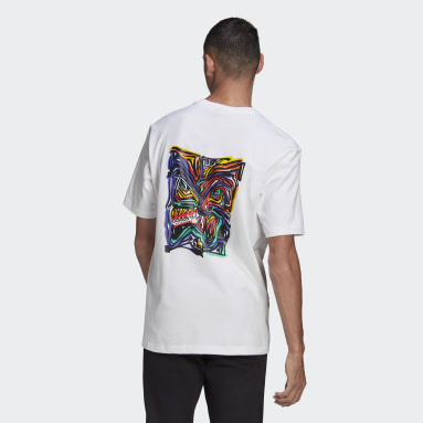 Mænd Originals Hvid adidas Adventure Munching Man Archive Graphic T-shirt