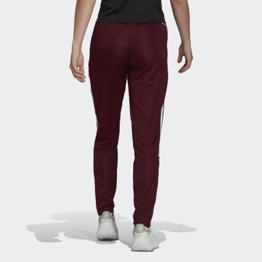 Women Cricket Red Tiro Track Pants