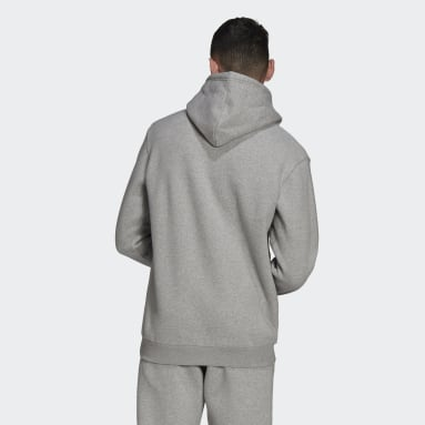 Men Originals Grey Adicolor Essentials Trefoil Hoodie