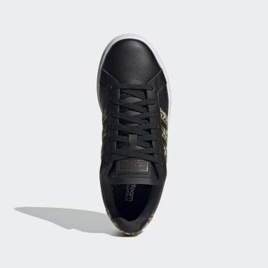 Women Tennis Black Grand Court Shoes