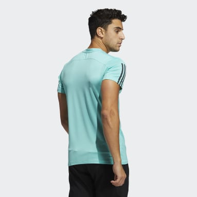 T-shirt Primeblue AEROREADY 3-Stripes Slim Vert Hommes Fitness Et Training