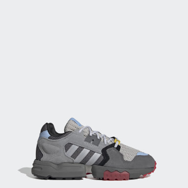 Kids Originals Grey Ninja ZX Torsion Shoes