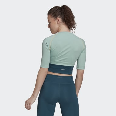 Women's Essentials Green Fitted AEROREADY Sport Crop Top