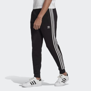 Muži Originals černá Kalhoty Adicolor Classics 3-Stripes