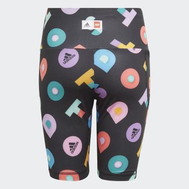 Girls Fitness Og Træning Sort LEGO® Dots korte tights