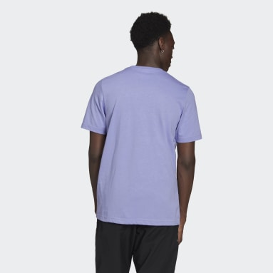 Men Originals Purple LOUNGEWEAR Adicolor Essentials Trefoil T-Shirt