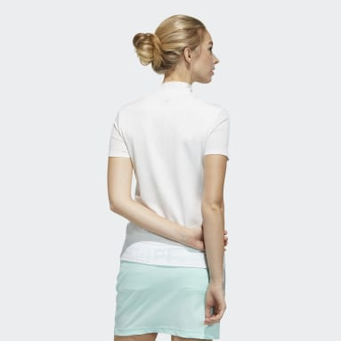 Women Golf White Polo Shirt