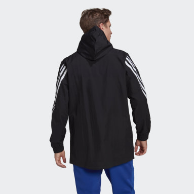 Men Sportswear Black adidas Sportswear 3-Stripes Tape Jacket