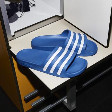 Ženy Plavání modrá Pantofle Adilette Aqua