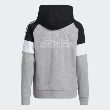 Youth Training Grey Colorblock French Terry Hooded Jacket