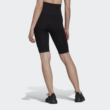 Women's Yoga Black Formotion Sculpt Biker Short Tights