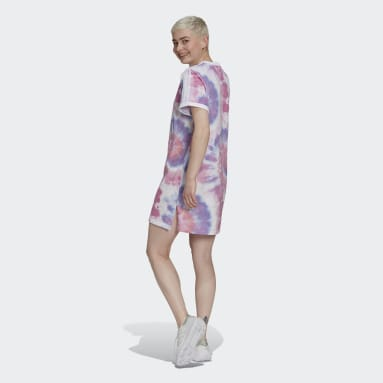 Women Originals Multicolor Tie Dye T-Shirt Dress