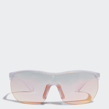Padel-Tennis SP0003 Crystal Injected Sportsonnenbrille Weiß