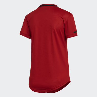 Women's Soccer Red Manchester United Home Jersey