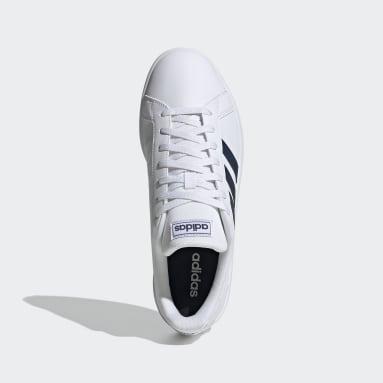 Men Sport Inspired White Grand Court Base Shoes