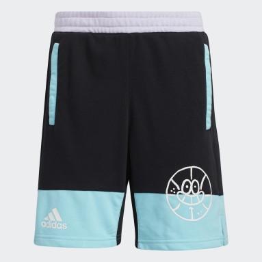 Kinderen Basketbal Zwart Lil Stripe Short