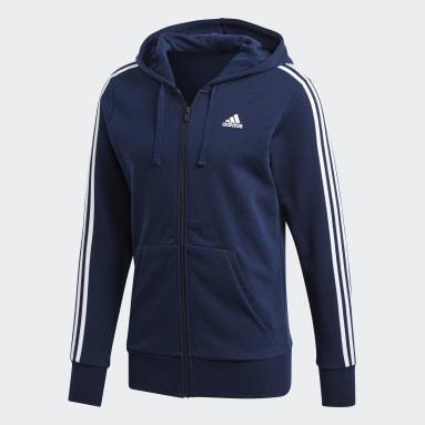 Chaqueta con capucha Essentials 3 bandas Azul Hombre Sportswear
