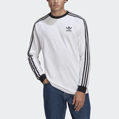 T-shirt Adicolor Classics 3-Stripes Long Sleeve Blanc Hommes Originals
