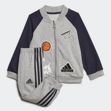 Kids Gym & Training Grey Collegiate Tracksuit