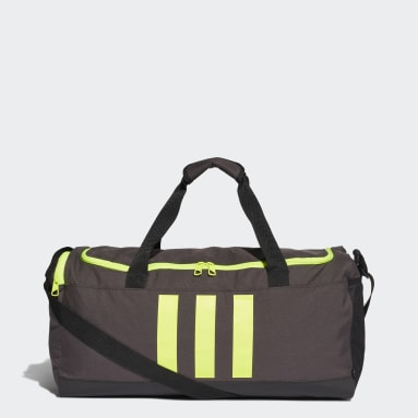 Tennis Grijs Essentials 3-Stripes Duffeltas Medium