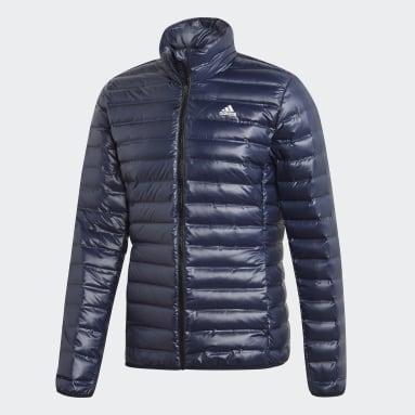 Mænd Overtøj Med Gadestil Blå Varilite dunjakke