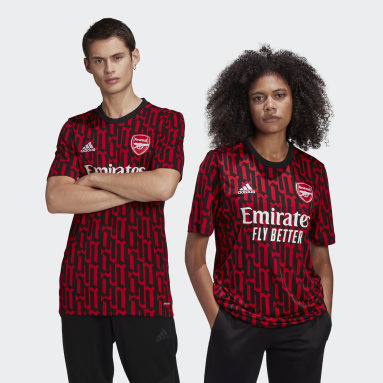 Men Soccer Red Arsenal Pre-Match Jersey