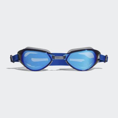 Vintersporter Blå Persistar Fit Mirrored Simglasögon