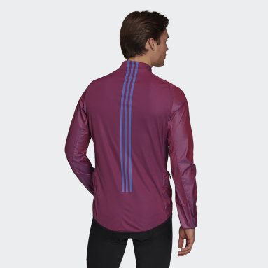 Men Cycling Purple The Cycling Wind Jacket