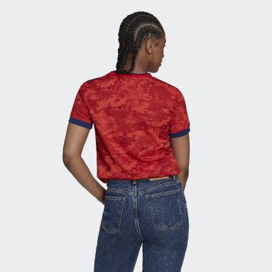 Camisola Alternativa 21/22 do Olympique Lyonnais Vermelho Mulher Futebol