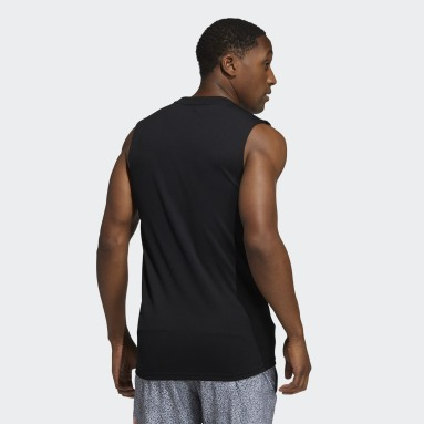 Men's Training Black adidas x Peloton 3-Stripes Sleeveless Top