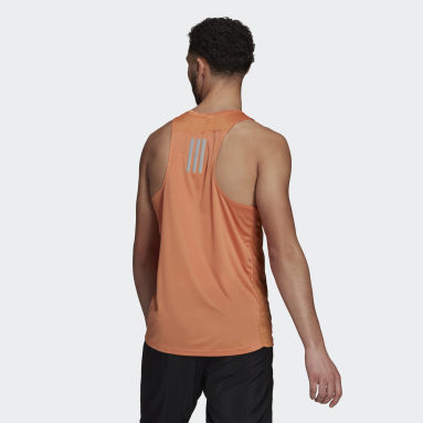 Camiseta de tirantes Own the Run Naranja Hombre Running