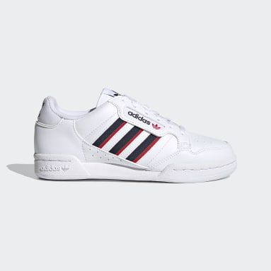 Kids Originals White Continental 80 Stripes Shoes