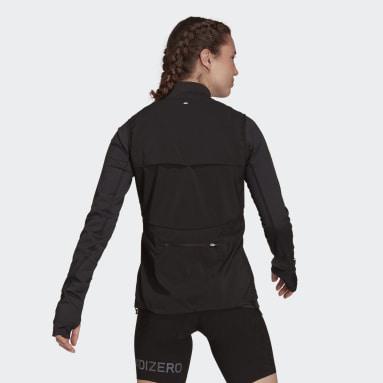 Dames Hardlopen Zwart Adizero Bodywarmer
