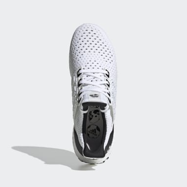 Running White Ultraboost Shoes