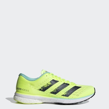 Women Running Yellow Adizero Adios 5 Shoes